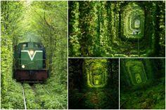 Túnel del amor, Klevan, Ucrania