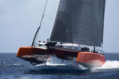 "G4 daysailing catamaran – DNA performance sailing. Foiling ""DaySail"" Catamaran with 2 berths and a full cabin!!"
