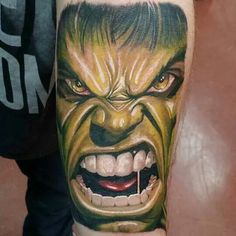 Incredible Hulk tattoo I did :)