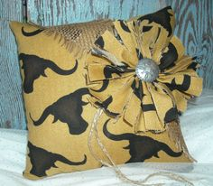 Texas Country Western Ring Bearer Pillow for a Rustic Outdoor Wedding By My Montana Homestead