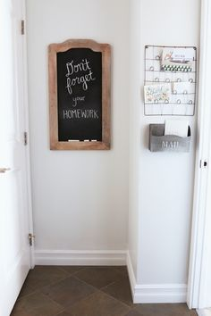 The Inspired Room - Hallway Chalkboard