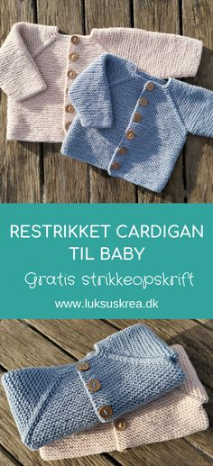 Retstrikket cardigan til baby Baby Knitting Patterns, Baby Cardigan Knitting Pattern Free, Knitted Baby Cardigan, Baby Pullover, Knitted Baby Blankets, Knitting For Kids, Baby Patterns, Knitted Hats, Crochet Pattern