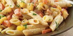 Root Vegetable Penne Pasta  #food #recipe #healthy
