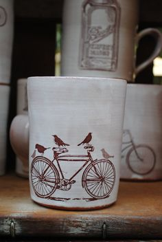 Bike & Birds MUG potsnpurses