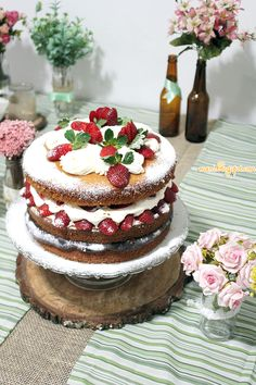 meu bolo de aniversário - NakedCake