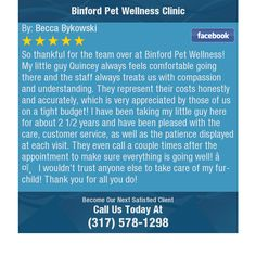 So thankful for the team over at Binford Pet Wellness! My little guy Quincey always...