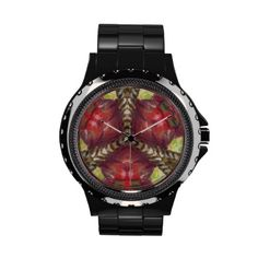 ABSTRACT RED WRIST WATCH
