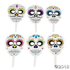 With these stick masks now anyone can transform into a skeleton ready to celebrate Halloween! Hand them out to party guests as a fun party favor or use them ...