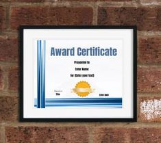 Free Editable Certificate Template   Customize Online & Print at Home Certificate Maker, Blank Certificate Template, Free Certificates, Text Signature, Custom Awards, Free Design, Online Printing, Engagement, Engagements