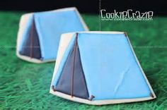 camping tent decorated cookies - Bing Images