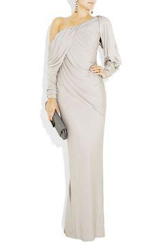 Donna Karan Draped Stretch-jersey Gown El vestido de mis suenos <3 @Majely Arenas