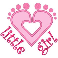 Little Girl Heart Feet Applique - 3 Sizes! | Mega Hoop Girls | Machine Embroidery Designs | SWAKembroidery.com.   What a wonderful idea for Mary!!