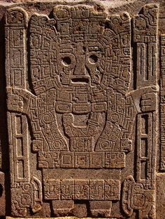Tata Inti (Father Sun). Tiahuanaco, Bolivia - I think a lot of Americans have a Eurocentric view, including me, but present day Latin America has some incredible and overlooked stuff, as well as pre-Columbian