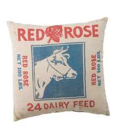 Look what I found on #zulily! 'Red Rose Dairy Feed' Pillow #zulilyfinds