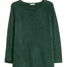 New H&M Emerald Oversized Sweater H&M emerald green slouchy lightweight sweater. Gorgeous green color marbled with a bit of black as shown in close-up picture. Hip length.  Brand new, never washed or worn. I ship within three days of purchase. Bundles receive a 20% discount. I gladly consider all reasonable offers. H&M Sweaters Crew & Scoop Necks