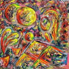 """Title: """"A WOMAN PAINTING"""" #art #contemporaryart  #painting #artist #cesarecatania  www.cesarecatania.eu  In this work Cesare Catania represents a woman painting. In the foreground on the left a vase of flowers central to the painting a glass of water with a paintbrush . Always in the foreground a canvas and a sphere that rolls on its edge. In the background on the left the sun and its shadow. All figures and objects of this work have contours and colors that are not well defined: a fast and…"""