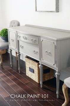 Using chalk paint is super easy, fun, and so artistic. Paint just one coat, distress as much as you want, or layer multiple colors. Chalk paint tutorial...