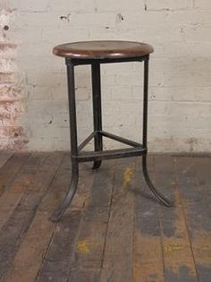 Steel with painted wooden top. Stool measures x 18 x 22 Seat diameter measures 13 & Pin by Get Back Inc. on Vintage Industrial Seating | Pinterest ... islam-shia.org