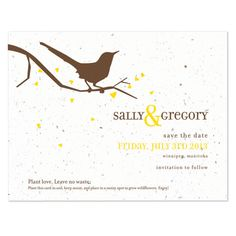 Song Plantable Save the Date Card