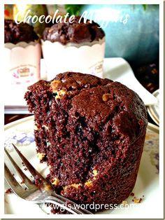 Simple Moist Chocolate Muffin (简易巧克力小松糕)   GUAI SHU SHU#guaishushu #kenneth_goh#chocolate_muffins#简易巧克力小松糕