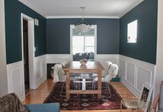 Dark wall decor gray dining room ideas walls grey laminated wooden floor teal a and moody . teal kitchen cabinets dark living room large size of wall decor Rug Under Dining Table, Dining Room, Home Decor Bedroom, Living Room Decor, Bedroom Kids, Grey Upholstered Dining Chairs, Grey Wall Decor, Decor Inspiration, Decor Ideas