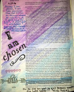 john Bible journaling Love knowing that I am chosen by God - the creator of the universe! Creator Of The Universe, The Creator, Illustrated Faith, Bible Journal, Bible Art, Art Journaling, Love You, Spirit, God
