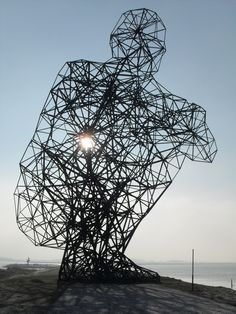 Exposure - Antony Gormley, Lelystad, Holland, 25 meters high    Gormley's interest is in the human body and how it relates to space and nature.