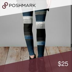 COMING SOON! Silky Stripe Abstract Leggings These are so comfortable! They are silky and feel like Pj's. The pattern on these is gorgeous with shades of gray, black, blue and white. These will arrive after the holidays! Pants Leggings