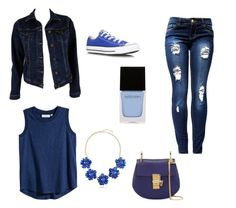 """""""Blue Jeans Tops All Dat Jazz"""" by bleauteal on Polyvore"""