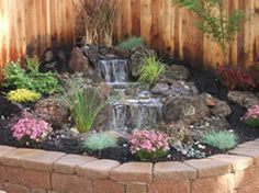 disappearing waterfall a/k/a pondless waterfall- I could see this in the corner of the back yard