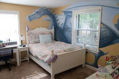 Dragon Bedroom Mural, acrylic on wallboard, © Peter K. Engelsmann