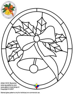 ★ Stained Glass Patterns for FREE ★ christmas glass pattern 054 Christmas ★