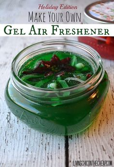 Make Your Own Gel Air Freshener (Holiday Edition). This is a fun and simple project for the holidays. Of course you could change the scents and colors and do these for any occasion. #DIY #airfreshener