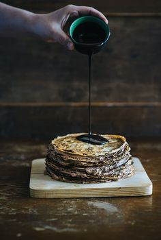 Nutella Crepe Cake- Hey @marissa. remember the crepe maker you bought? Lol. too bad we don't have it now to make this.