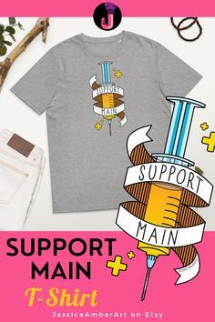 Looking for an ethical gamer t-shirt? This crew neck tee is organic cotton, and makes a great gift for friends and family that are into games like Overwatch. Unisex top in many sizes and five colours. Click the link to check it out! Gamer T Shirt, You Are Important, Organic Cotton T Shirts, Positive Words, Overwatch, A Team, Fabric Weights, Maine, Crew Neck