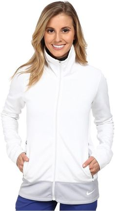 Thermal Full Zip Athletic Jacket - Nike | Women's athletic jacket, multiple color options, fitted with pockets.