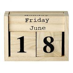 Kalendarz drewniany 508071 Bloomingville