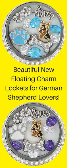 Beautiful New Charm Locket for German Shepherd Dog Lovers!  Available in multiple colors.  Get yours before their gone!