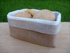 Corbeille à pain lin corbeille à pain tissu par LinenTouch sur Etsy