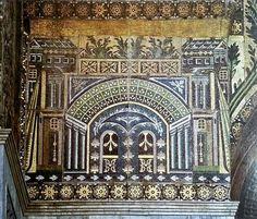 Sumptuous mosaics of the Ummayad Mosque, Damascus, Syria.