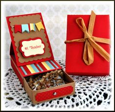 Teach Easel Card and box designed created by Tammy Hobbs @ Creating Somewhere Under The Sun www.papersweeties.com