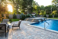 Turn your outdoor living space into paradise! View all the possibilities on Cambridge Pavingstones with ArmorTec website! Installation: Barry Bros Landscaping