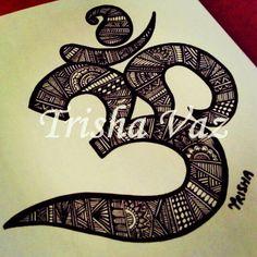 Ohm/Om/Aum symbol - namaste, peace, love, hope, yoga do this in gold leaf pen