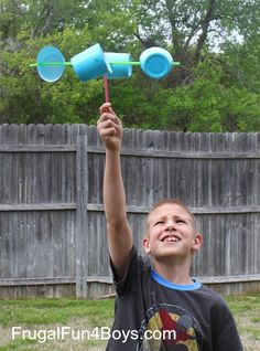 Make an anemometer to observe wind speed using #recycled cups (our material of the month!)
