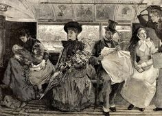 Travelling on Public Transport, Image from the Graphic Newspaper, 1895