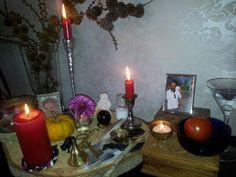 Mijn Samhain altaar..