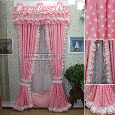 Fabric customize finished products princess dream polka dot pink living room curtain-inCurtains from Home & Garden on Aliexpress.com | Alibaba Group