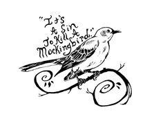 To Kill A Mockingbird (Tattoo Design by Y--Pestis on deviantART)