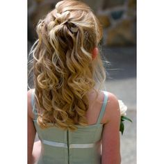Wedding Hairstyles for Little Girls ❤ liked on Polyvore featuring hair and hairstyles