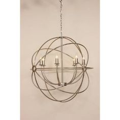 Check out the Control Brand BC097 Grand Vasteras 7 Light Chandelier in Brushed Nickel priced at $450.00 at Homeclick.com. YES!!